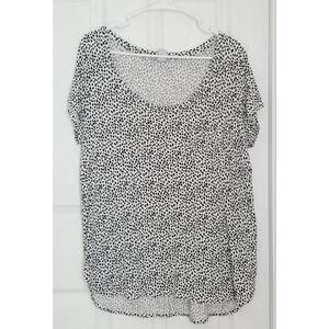 H&M Spotty Print T-shirt Pocket Top Large